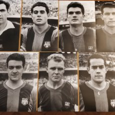 Coleccionismo deportivo: ANTIGUAS FOTOGRAFIAS C.F. BARCELONA DE NEGATIVOS ORIGINALES 1958-59 KUBALA, RAMALLETS, SUAREZ ETC.. Lote 157749398