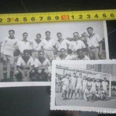 Coleccionismo deportivo: 2 FOTOS ANTIGUAS EQUIPO LAGUN BETI VIZCAYA BILBAO. Lote 159195938
