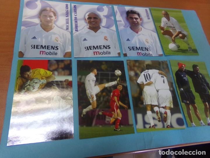 Coleccionismo deportivo: 91 foto Real Madrid producto oficial 2002-2003,sueltas a 3 euros unidad - Foto 4 - 159209106
