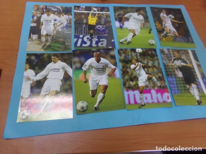Coleccionismo deportivo: 91 foto Real Madrid producto oficial 2002-2003,sueltas a 3 euros unidad - Foto 7 - 159209106