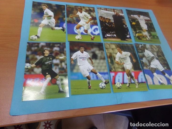 Coleccionismo deportivo: 91 foto Real Madrid producto oficial 2002-2003,sueltas a 3 euros unidad - Foto 9 - 159209106