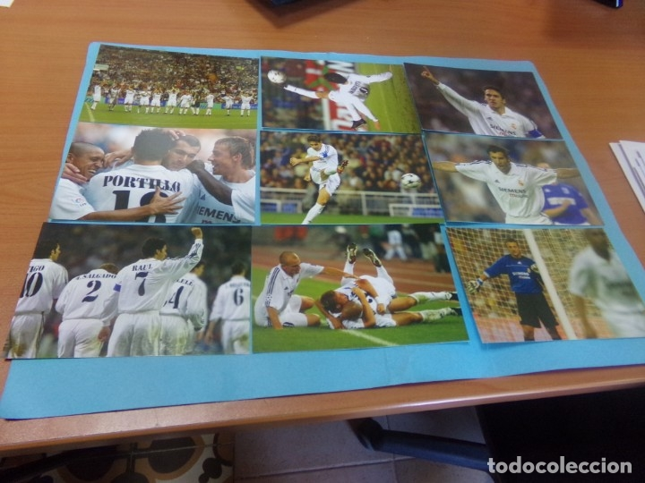 Coleccionismo deportivo: 91 foto Real Madrid producto oficial 2002-2003,sueltas a 3 euros unidad - Foto 12 - 159209106