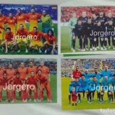Coleccionismo deportivo: F.C. BARCELONA. LOTE 4 FOTOS ALINEACIONES CON EQUIPACIÓN SUPLENTE. DISTINTAS TEMPORADAS. Lote 85470760