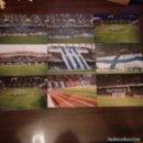 Coleccionismo deportivo: LOTE 9 FOTOGRAFÍAS EN ESTADIO DE RIAZOR DEPORTIVO LA CORUÑA MOSAICOS AFICIÓN. Lote 159913550