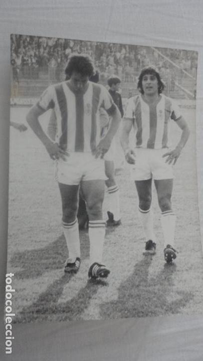 ANTIGUA FOTOGRAFIA.FUTBOL.RECREATIVO DE HUELVA.ESPARRAGO.AÑOS 70 (Coleccionismo Deportivo - Documentos - Fotografías de Deportes)
