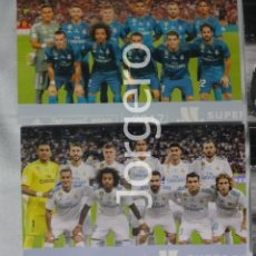 Coleccionismo deportivo - R. MADRID. LOTE 2 FOTOS ALINEACIONES CAMPEÓN SUPERCOPA DE ESPAÑA 2017 CONTRA EL BARCELONA - 160311406