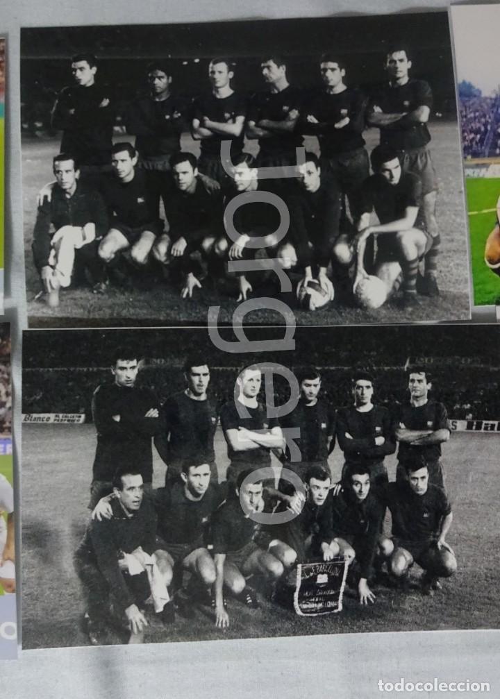 F.C. BARCELONA. LOTE 2 FOTOS ALINEACIONES CAMPEÓN COPA DE FERIAS 1965-1966 CONTRA EL ZARAGOZA. (Coleccionismo Deportivo - Documentos - Fotografías de Deportes)