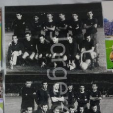 Coleccionismo deportivo: F.C. BARCELONA. LOTE 2 FOTOS ALINEACIONES CAMPEÓN COPA DE FERIAS 1965-1966 CONTRA EL ZARAGOZA.. Lote 160311454