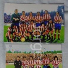 Coleccionismo deportivo: AT. MADRID. LOTE 2 FOTOS ALINEACIONES FINALISTA COPA DE EUROPA 1973-1974 EN HEYSEL CONTRA BAYERN M.. Lote 182428337