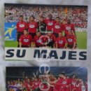 Coleccionismo deportivo: R.C.D. MALLORCA. LOTE 2 FOTOS CAMPEÓN COPA DEL REY 2002-2003 EN EL M. VALERO CONTRA R. HUELVA.. Lote 160311654