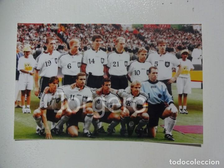 SELECCIÓN ALEMANA DE FÚTBOL. ALINEACIÓN CAMPEÓN EUROCOPA 1996 EN WEMBLEY CONTRA R. CHECA. FOTO (Coleccionismo Deportivo - Documentos - Fotografías de Deportes)