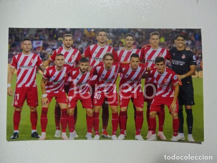 GIRONA F.C. ALINEACIÓN PARTIDO DE LIGA 2018-2019 EN EL CAMP NOU CONTRA EL BARCELONA. FOTO (Coleccionismo Deportivo - Documentos - Fotografías de Deportes)