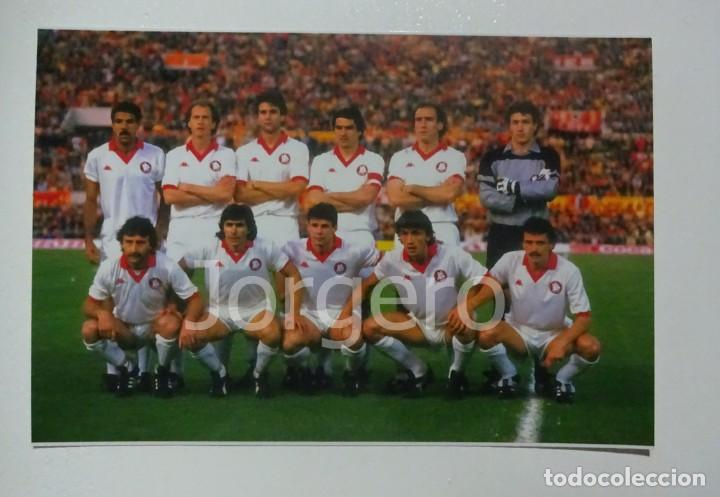 AS.ROMA. ALINEACIÓN FINALISTA COPA DE EUROPA 1983-1984 EN EL ESTADIO OLÍMPICO CONTRA LIVERPOOL. FOTO (Coleccionismo Deportivo - Documentos - Fotografías de Deportes)