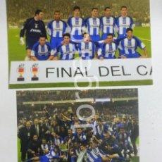 Coleccionismo deportivo - D. CORUÑA. LOTE 2 FOTOS CAMPEÓN COPA DEL REY 2001-2002 EN EL BERNABÉU CONTRA R. MADRID - 160896982