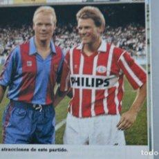 Coleccionismo deportivo: RECORTE DE DON BALON 1990.RONALD KOEMAN (FC BARCELONA). Lote 161291774
