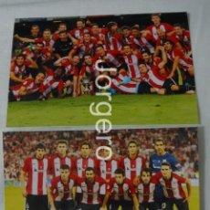 Coleccionismo deportivo: ATH. BILBAO. LOTE 2 FOTOS CAMPEÓN SUPERCOPA DE ESPAÑA 2015 EN EL CAMP NOU CONTRA EL BARCELONA. Lote 161510486