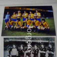 Coleccionismo deportivo - F.C. BARCELONA. LOTE 2 FOTOS ALINEACIONES FINALISTA SUPERCOPA DE EUROPA 1982 CONTRA ASTON VILLA - 161510554