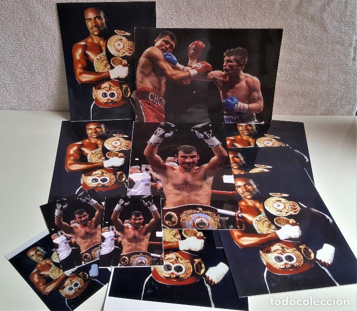 LOTE DE 13 FOTOS RELACIONADAS CON DEPORTE BOXEO, UFC, BELLATOR- 30 X 20.CM APROX (ALGUNAS REPETIDAS) (Coleccionismo Deportivo - Documentos - Fotografías de Deportes)
