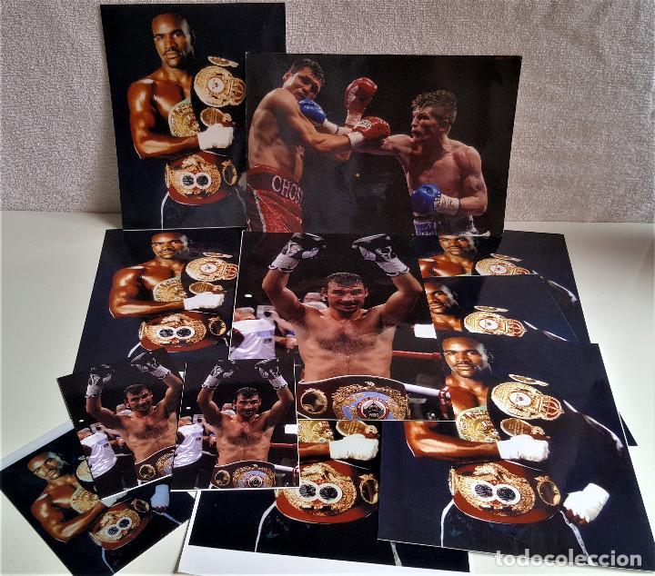 Coleccionismo deportivo: LOTE DE 13 FOTOS RELACIONADAS CON DEPORTE BOXEO, UFC, BELLATOR- 30 X 20.CM APROX (ALGUNAS REPETIDAS) - Foto 2 - 164975410