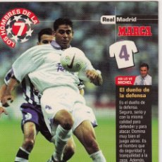 Coleccionismo deportivo: LOS HOMBRES DE LA 7 COPA DE EUROPA F. HIERRO JUGADOR (REVERSO H7MARCA-VISITAR) MEDIDAS 145-105MM . Lote 165353742