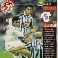 Coleccionismo deportivo: LOS HOMBRES DE LA 7 COPA DE EUROPA M. SANCHIS JUGADOR (REVERSO H7MARCA-VISITAR) MEDIDAS 145-105MM. Lote 165353942