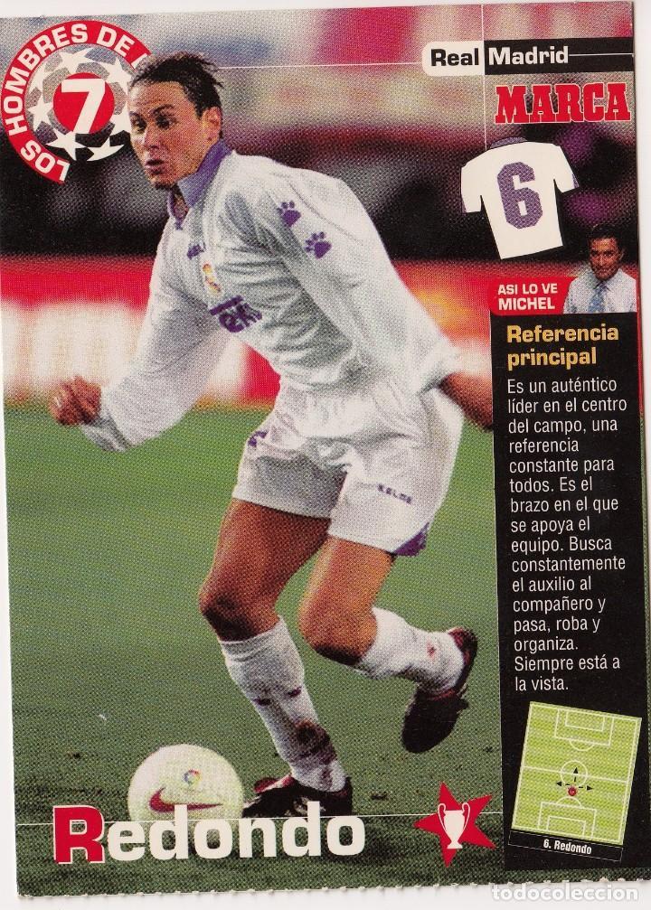 LOS HOMBRES DE LA 7 COPA DE EUROPA F. REDONDO JUGADOR (REVERSO H7MARCA-VISITAR) MEDIDAS 145-105MM (Coleccionismo Deportivo - Documentos - Fotografías de Deportes)