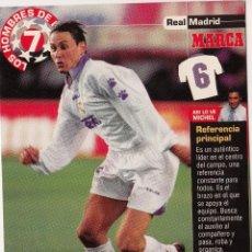 Coleccionismo deportivo: LOS HOMBRES DE LA 7 COPA DE EUROPA F. REDONDO JUGADOR (REVERSO H7MARCA-VISITAR) MEDIDAS 145-105MM . Lote 165354102