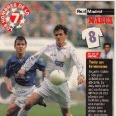 Coleccionismo deportivo: LOS HOMBRES DE LA 7 COPA DE EUROPA MIJATOVIC JUGADOR (REVERSO H7MARCA-VISITAR) MEDIDAS 145-105MM . Lote 165354250