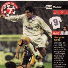 Coleccionismo deportivo: LOS HOMBRES DE LA 7 COPA DE EUROPA DAVOR SUKER JUGADOR (REVERSO H7MARCA-VISITAR) MEDIDAS 145-105MM . Lote 165354406