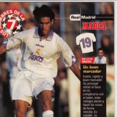 Coleccionismo deportivo: LOS HOMBRES DE LA 7 COPA DE EUROPA F. SANZ (REVERSO H7MARCA-VISITAR) MEDIDAS 145-105MM . Lote 165355246