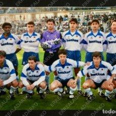 Coleccionismo deportivo: FOTOGRAFIA 10X15 ALINEACION REAL SOCIEDAD - LLEIDA AÑO 1994 . Lote 165665542