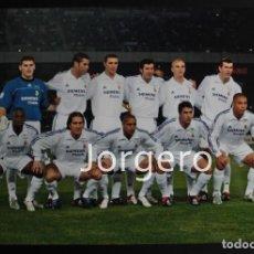 Coleccionismo deportivo: R. MADRID. ALINEACIÓN CAMPEÓN COPA INTERCONTINENTAL 2002 EN YOKOHAMA CONTRA EL OLIMPIA. FOTO. Lote 167058498