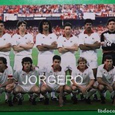 Coleccionismo deportivo: A.C. MILÁN. ALINEACIÓN CAMPEÓN COPA DE EUROPA 1988-1989 EN EL CAMP NOU CONTRA STEAUA B. FOTO. Lote 222656700