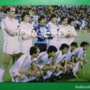Coleccionismo deportivo: R. MADRID. ALINEACIÓN FINALISTA COPA DEL REY 1982-1983 EN LA ROMAREDA CONTRA EL BARCELONA. FOTO. Lote 168355552