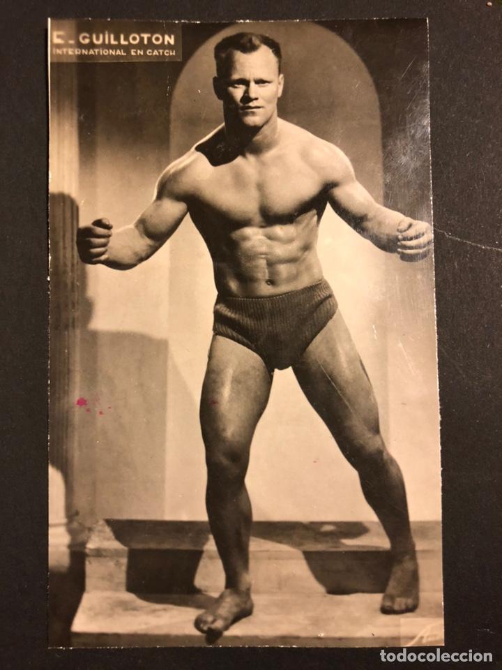 FOTO ORIGINAL DEL LUCHADOR DE LUCHA LIBRE GUILLOTON.CATCH.13,5X8 CM (Coleccionismo Deportivo - Documentos - Fotografías de Deportes)