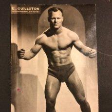 Coleccionismo deportivo: FOTO ORIGINAL DEL LUCHADOR DE LUCHA LIBRE GUILLOTON.CATCH.13,5X8 CM. Lote 168397141