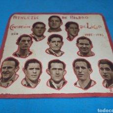 Coleccionismo deportivo: ANTIGUA PEQUEÑA ORLA, HECHA A MANO CON RECORTES DE PERIÓDICO, ATH DE BILBAO 1935-1936,CAMPEON. Lote 169950657