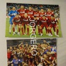 Coleccionismo deportivo: SEVILLA F.C. LOTE 2 FOTOS CAMPEÓN SUPERCOPA DE ESPAÑA (V) 2007 EN EL BERNABÉU CONTRA R. MADRID. Lote 170295472