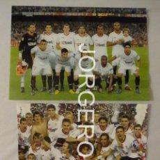 Coleccionismo deportivo: SEVILLA F.C. LOTE 2 FOTOS CAMPEÓN COPA DEL REY 2009-2010 EN EL CAMP NOU CONTRA AT. MADRID. Lote 170295560