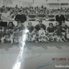 Coleccionismo deportivo: ANTIGUO EQUIPO GIRONA GERONA FUTBOL FOTO ANTIGUA BUIL MAYRAL FIRMADA MANUSCRITO EN LA BASE. Lote 147552802