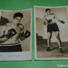 Coleccionismo deportivo: RARO PAR FOTO BOXEADOR ASTURIANO CLAUDIO VILLAR PANCHO EL MOZARRON DE PEÑAMELLERA BOXEO AÑOS 30. Lote 171267562