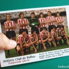 Coleccionismo deportivo: ALINEACIÓN ATHLETIC BILBAO (1980-81) - FOTOGRAFÍA EN BRILLO DE 10 X 15 (NUEVA). Lote 105852344
