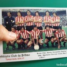 Coleccionismo deportivo: ALINEACIÓN ATHLETIC BILBAO (1976-77) - FOTOGRAFÍA EN BRILLO DE 10 X 15 (NUEVA). Lote 71453659