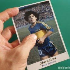 Coleccionismo deportivo: MARADONA - BOCA JUNIORS - FOTOGRAFÍA EN BRILLO DE 10 X 15 (NUEVA). Lote 57582278