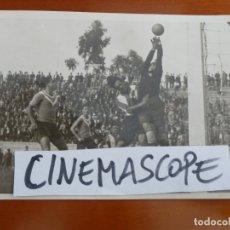 Coleccionismo deportivo: REAL CLUB DEPORTIVO ESPAÑOL FUTBOL BADALONA NAVES PORTERO FOTO ORIGINAL ANTIGUA . Lote 174087627