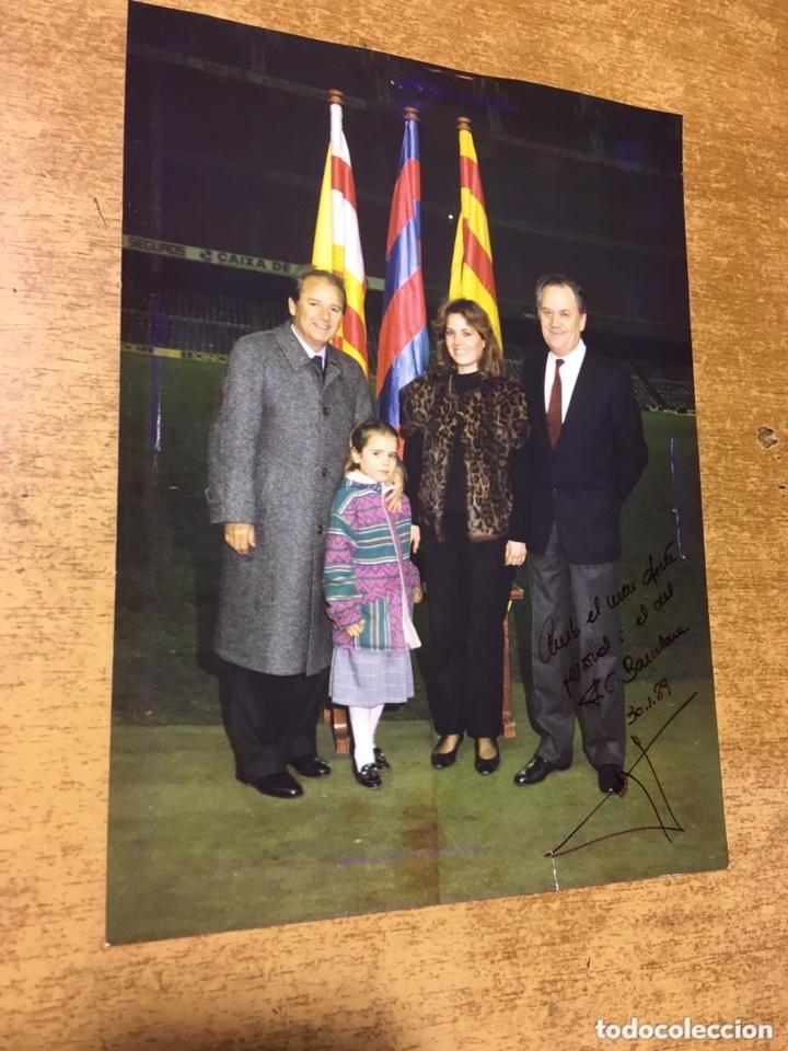 FOTOGRAFÍA DEDICADA DE JOSEP LUIS NUÑEZ - F.C. BARCELONA - 20X14,5CM - 1989 (Coleccionismo Deportivo - Documentos - Fotografías de Deportes)