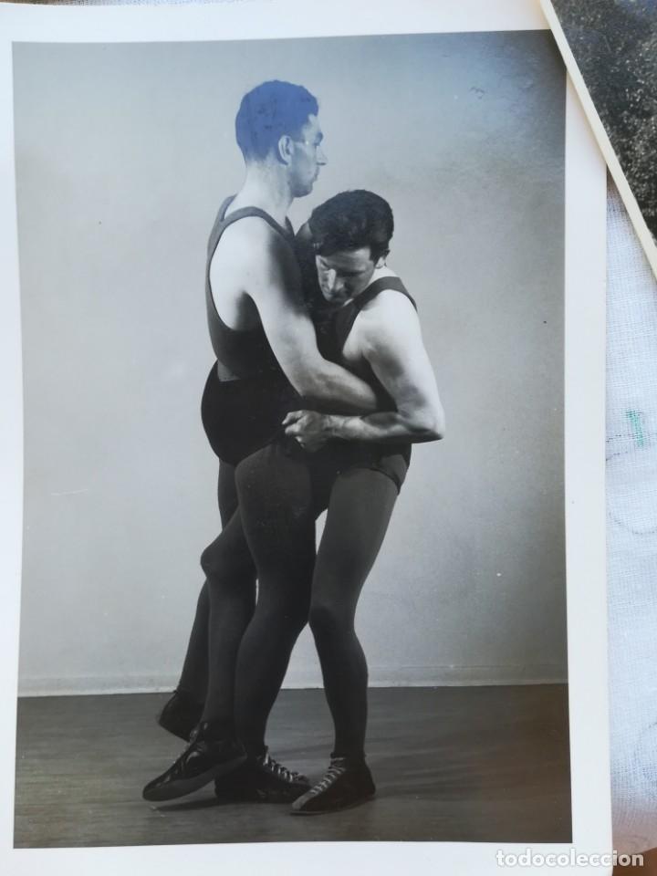 Coleccionismo deportivo: 8 FOTOGRAFIAS DEPORTE LUCHA LIBRE VIKINGO DE ISLANDIA,AÑOS 50,SIMILAR A LA CANARIA Y GRECO ROMANA - Foto 8 - 174414599
