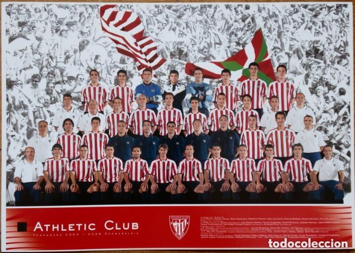 TARJETÓN OFICIAL DEL ATHLETIC CLUB DE BILBAO CON LA ALINEACIÓN DE LA TEMPORADA 2004/2005 - ORIGINAL (Coleccionismo Deportivo - Documentos - Fotografías de Deportes)