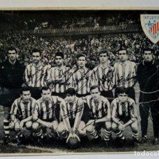 Coleccionismo deportivo: LEER DESCRIPCION (1967) TARJETÓN DEL ATHLETIC CLUB DE BILBAO CON LA ALINEACIÓN OFICIAL DEL EQUIPO. Lote 175345439