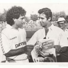 Coleccionismo deportivo: FOTOGRAFÍA REAL MADRID, HUGO SÁNCHEZ.- 24 X 17 CM. 1988. Lote 175661734